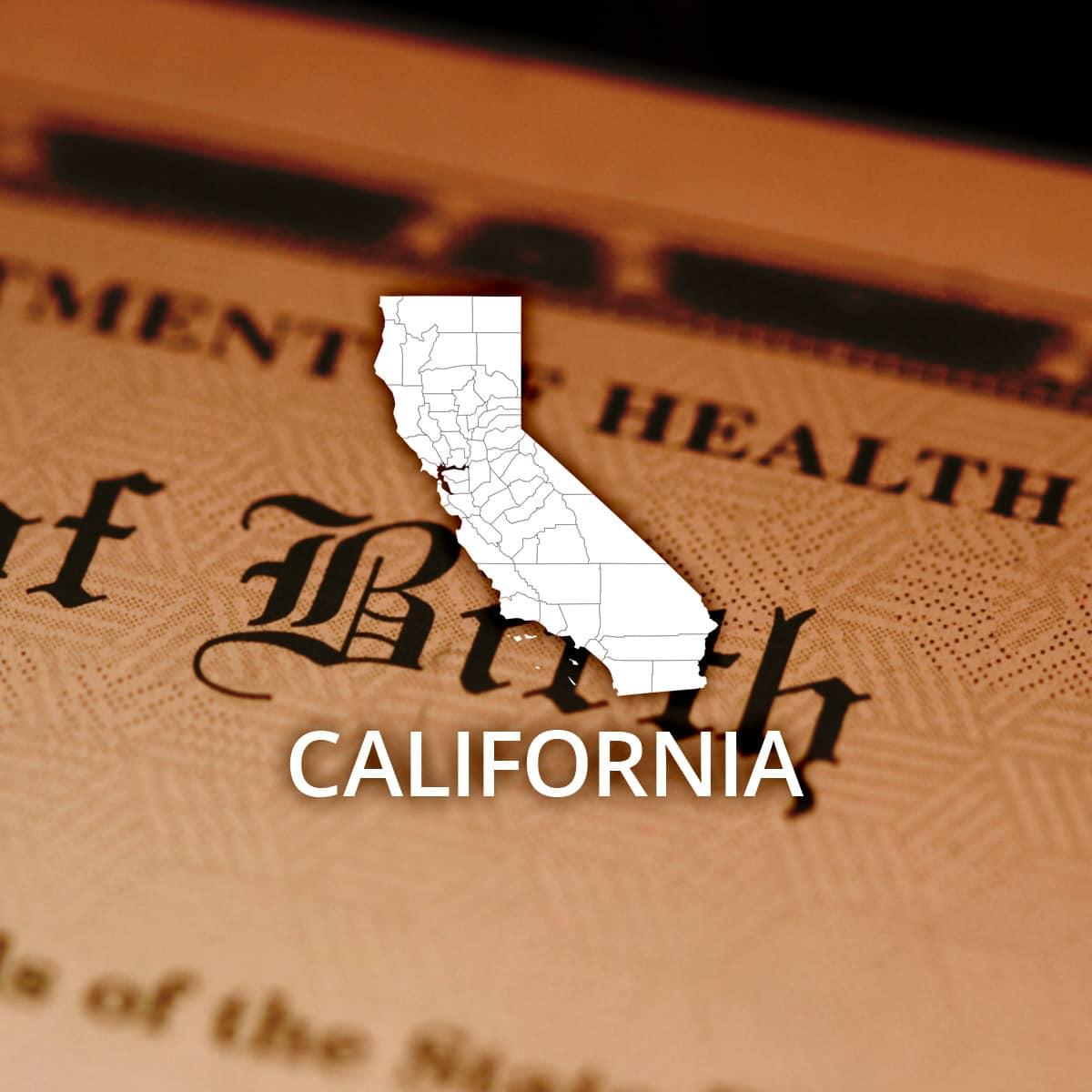 Where to Obtain a California Birth Certificate