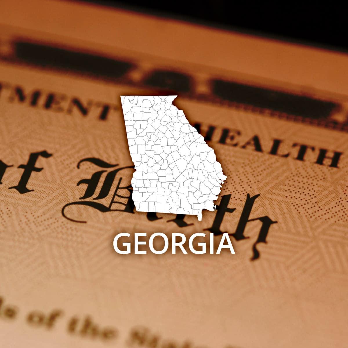 Where to Obtain a Georgia Birth Certificate