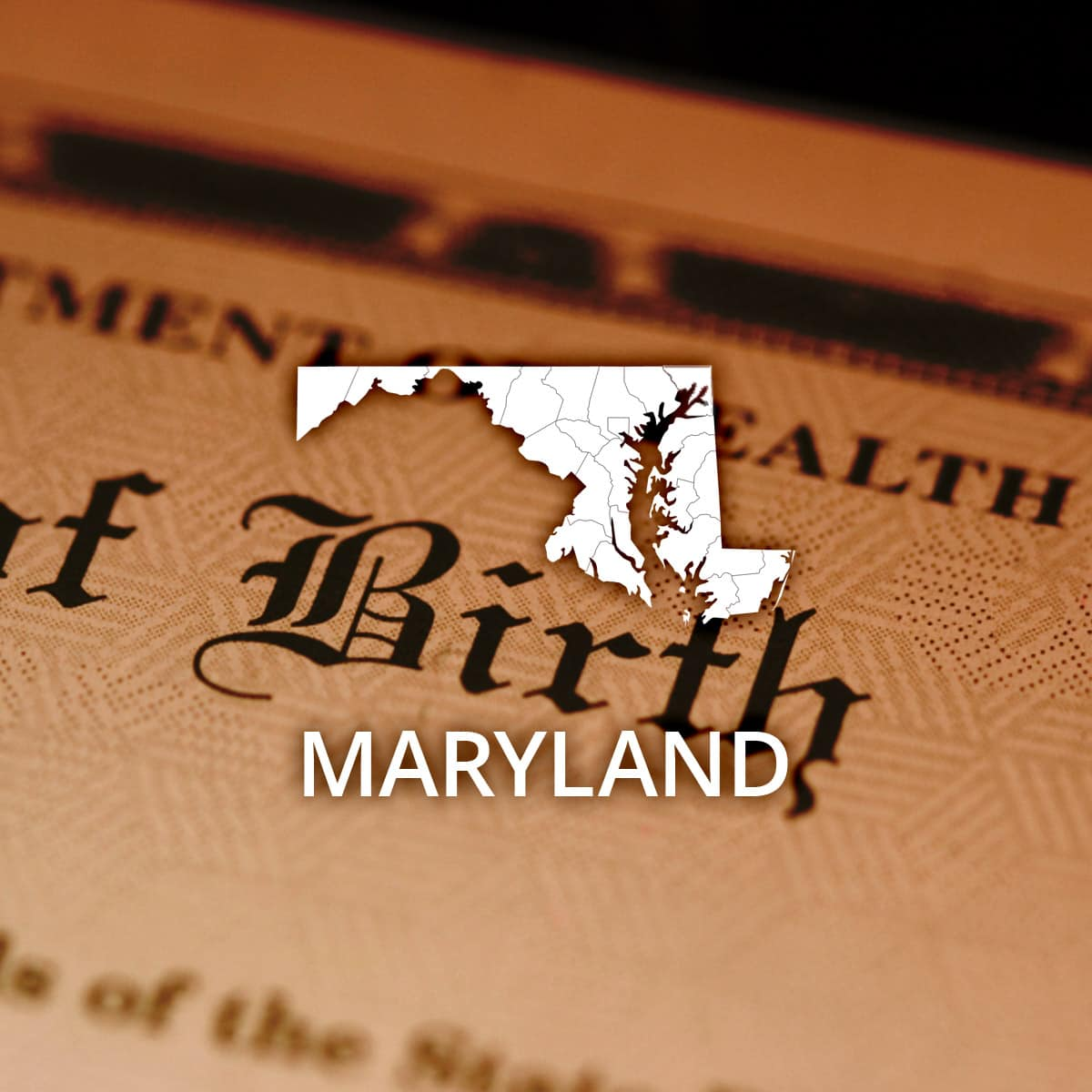 Where to obtain a maryland birth certificate aiddatafo Images