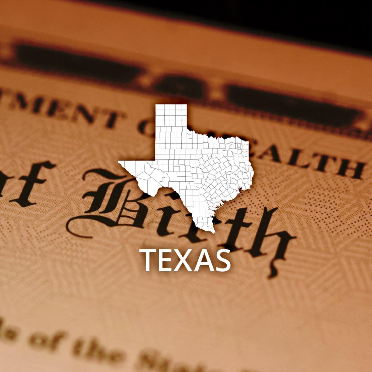 Where to obtain a texas birth certificate aiddatafo Choice Image