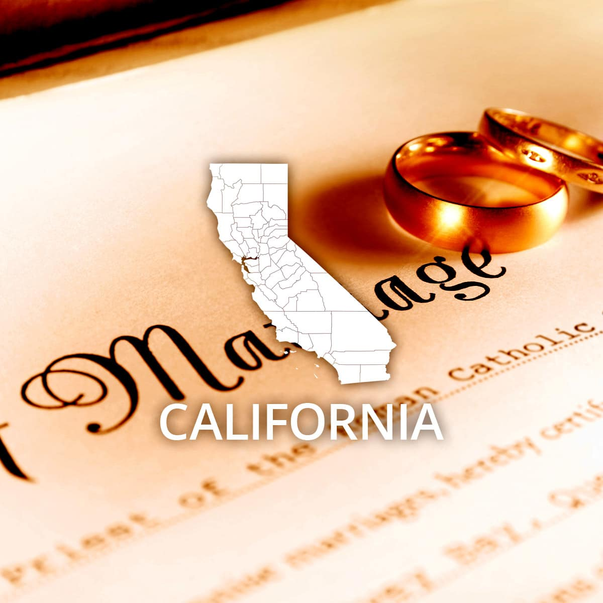 Where to Obtain a California Marriage Certificate