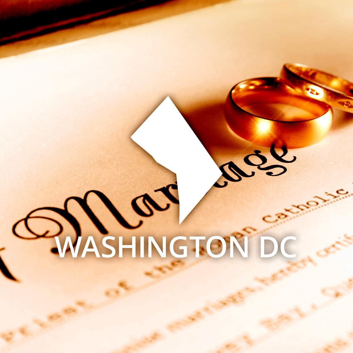 Where to Obtain a District of Columbia Marriage Certificate