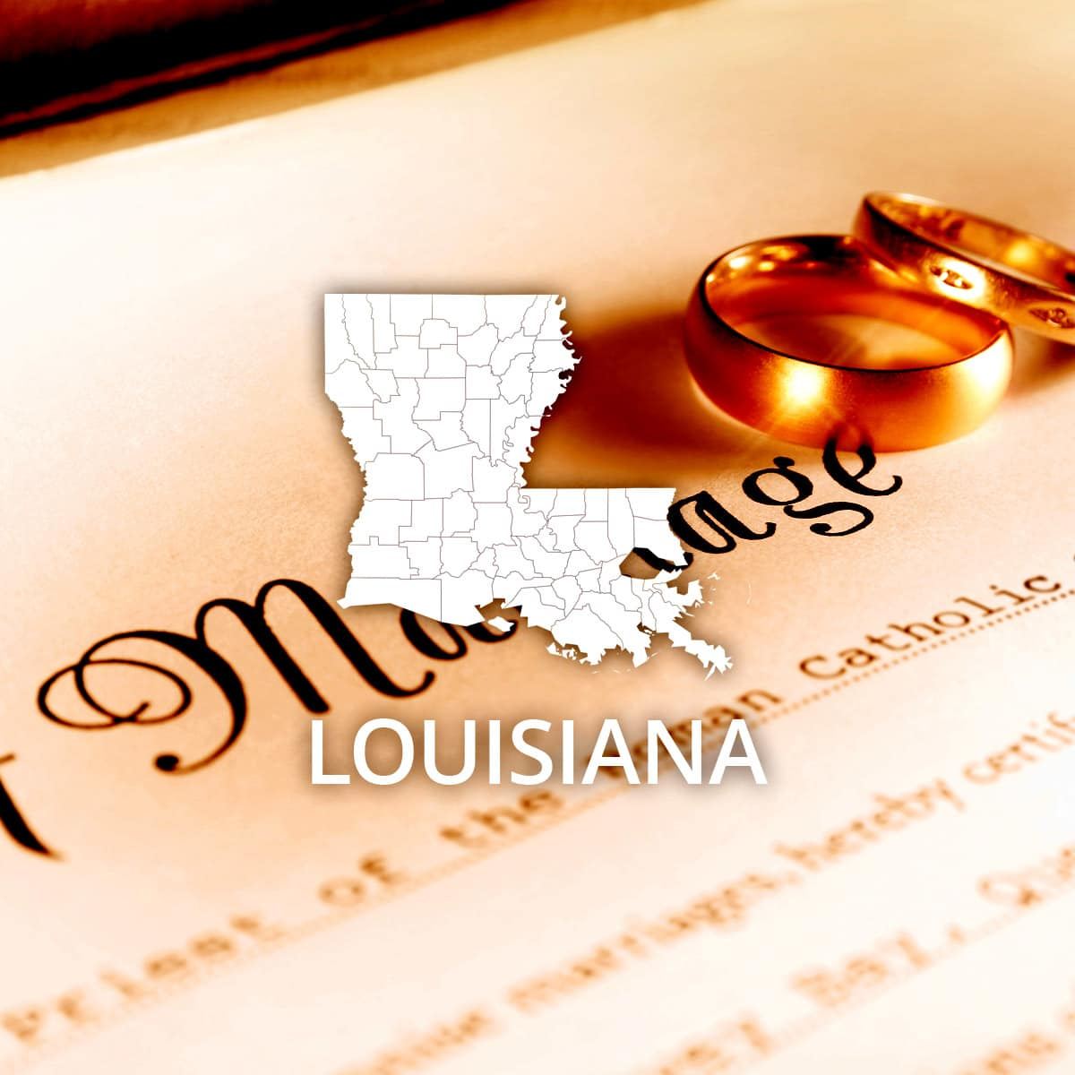 Where to Obtain a Louisiana Marriage Certificate