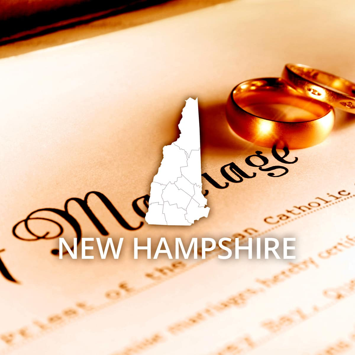 Where to Obtain a New Hampshire Marriage Certificate